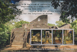CURACAO, 2021, MNH, CATHEDRAL OF THORNS, SHEETLET MOUNTED IN SPECIAL FOLDER. - Chiese E Cattedrali
