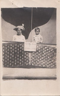 742 – Real 1910s RPPC Photo – Flying High At Charleston – Animation Woman Child - Hot-Air Balloon – Acceptable Condition - Globos
