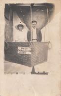 743 – Real 1912 B&W RPPC Photo – Charleston – Animation Man Woman – Hot-Air Balloon – Acceptable Condition – 2 Scans - Globos