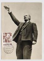 CARTE MAXIMUM CM Card USSR RUSSIA Lenin October Revolution - Cartoline Maximum