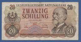 AUSTRIA - P.136 – 20 Schilling 02.07.1956 -  Cirulated Serie FT 928218 - Austria