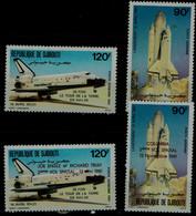 DJIBOUTI 1981 SPACE MI No 312-3+317-8 MNH VF!! - Africa