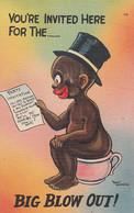 745 – Comics Comic Humor Humour – Big Blow Out – Black Child – Black Americana – Near Mint Condition – 2 Scans - Black Americana