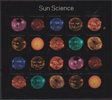 USA, 2021, MNH, SUN SCIENCE, SHEETLET OF 2 SETS - Altri