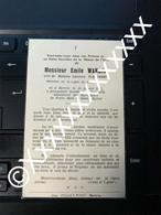 [V] Wanlin Emile Plainchamp Bertrix 1865 1952 - Obituary Notices