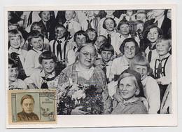 CARTE MAXIMUM CM Card USSR RUSSIA Lenin October Revolution Krupskaya Wife Secretary Children Scout - Cartoline Maximum