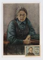 CARTE MAXIMUM CM Card USSR RUSSIA Lenin October Revolution Krupskaya Wife Secretary - Cartoline Maximum