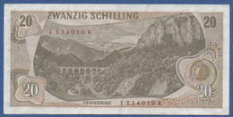 AUSTRIA - P.142a (1) – 20 Schilling 02.07.1967 -  Cirulated Serie I 534010 K - Austria