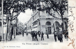 SPEZIA-Via Prione (Angolo Crastan)-Vg Il 20 04 1904-per Como-ORIGINALE D'Epoca Al100%-2 Scann- - La Spezia