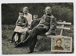 CARTE MAXIMUM CM Card USSR RUSSIA Lenin October Revolution Krupskaya Wife Secretary Children - Cartoline Maximum