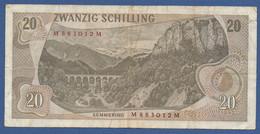AUSTRIA - P.142a (1) – 20 Schilling 02.07.1967 -  Cirulated Serie M 883012 M - Austria