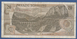 AUSTRIA - P.142a (1) – 20 Schilling 02.07.1967 -  Cirulated Serie J 931302 A - Austria