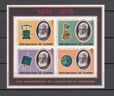Guinea 1975,4V In Block,IMPERF,100 Ann. Telephone,satellite,MNH/Postfris(L3684) - Non Classificati