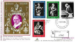 VATICANO - 1964 Apertura 3^ Sessione Concilio Annullo Speciale (Papa Paolo VI) Su Busta KimCover Raccomandata - 2324 - Papi
