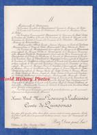 Document Ancien De 1904 - PREUILLY Sur CLAISE Château De RIS - Henri Vital Marie POURROY De LAUBERIVIERE Comte QUINSONAS - Documenti Storici