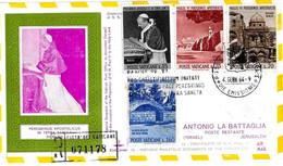 VATICANO - 1964 Visita Papa PAOLO VI In Terra Santa Serie Compl.su Busta KimCover Raccomandata + Annulli Retro - 2330 - Papi