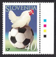Slovenia 2000 UEFA EURO Championship Belgium Netherlands Football Fussball Soccer Fauna Animals Rooster Hahn MNH - Europei Di Calcio (UEFA)