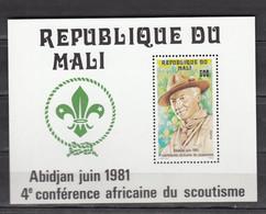 Mali 1981,1V In Block,scouting,padvinderij,pfadfinder,scoutisme,escultismo,scoutismo/Postfris(L3686) - Nuovi