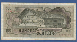 AUSTRIA - P.146 – 100 Schilling 02.01.1969 - 2. AUFLAGE (2nd Issue) - Circulated Serie X 580994 A - Austria