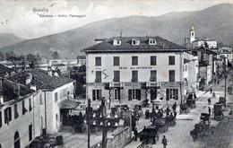 BUSALLA-GE-Stazione-Arrivo Passeggeri-Hotel Dell'Appennino-Vg Il1907-per BIELLA PIAZZO-ORIGINALE D'Epoca Al100%-2 Scann- - Genova