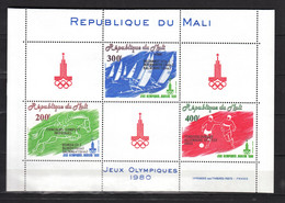 Mali 1980,3V In Block,olympic,olympisch,olympische,olympique,olympicos,olimpici /Postfris(L3687) - Estate 1980: Mosca