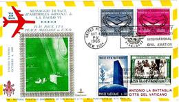 ONU - 1965 NEW YORK Visita Papa PAOLO VI All'Onu Su Busta KimCover Viaggiata Per Il Vaticano - 2334 - Papi