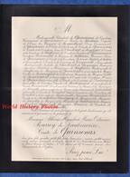 Document De 1903 - PARIS Avenue D' Antin - Albéric Humbert Marie Octavien POURROY De LAUBERIVIERE Comte QUINSONAS - Documenti Storici