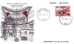 TURCHIA TURKIYE - 1967 ISTAMBUL Visita Papa PAOLO VI Al Museo S.Sofia Su Busta Speciale Filagrano - 2338 - Papi