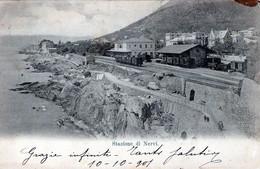 STAZIONE DI NERVI-GE-Vg Il 10-10-1901 Per CALUSO-ORIGINALE D'Epoca Al100%-2 Scann- - Genova