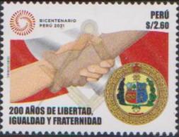 PERU, 2021, MNH, FRATERNITY, EQUALITY, LIBERTY, GRAND LODGE OF PERU,1v - Altri