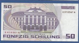 AUSTRIA - P.149 – 50 Schilling 02.01.1986 - Circulated Serie E 010361 N - Austria