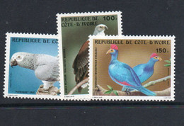 BIRDS -  IVORY COAST - 1983- BIRDS SET OF 3  MINT NEVER HINGED - Piccioni & Colombe