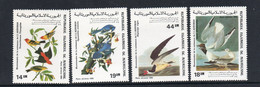 BIRDS -  MAURITANIA  -1985 - AUDUBON BIRDS SET  OF 4  MINT NEVER HINGED - Piccioni & Colombe