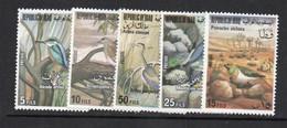 BIRDS - IRAQ  - 1976 - BIRDS SET OF 5 MINT NEVER HINGED, SG CAT £31 - Piccioni & Colombe