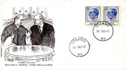 TURCHIA TURKIYE - 1967 ISTAMBUL Visita Papa PAOLO VI Incontro Col Presidente Sunay Su Busta Speciale Filagrano - 2340 - Papi