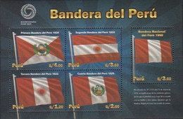 PERU, 2021, MNH, FLAGS, FLAGS OF PERU, SHEETLET - Vari