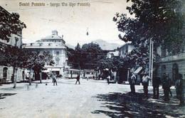 SESTRI PONENTE-Largo Via Ugo Foscolo-GE-Vg Il 24-8-1928 Per OVADA-ORIGINALE D'Epoca Al100%-2 Scann- - Genova