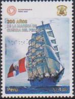 PERU, 2021, MNH, FLAGS, SHIPS, PERUVIAN NAVY,1v - Barche