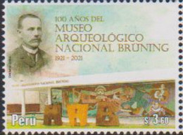 PERU, 2021, MNH, MUSEUMS, NATIONAL ARCHAEOLOGICAL MUSEUM,1v - Musei