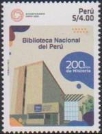 PERU, 2021, MNH, NATIONAL LIBRARY,1v - Altri