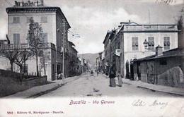 BUSALLA-GE-Via Genova_Vg Il 1-5-1905 Per CHARLEROI-ORIGINALE D'Epoca Al100%-2 Scann- - Genova