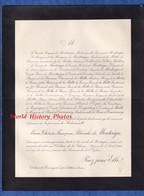 Document De 1910 - ARTHON ( Indre ) Château De Beauregard - Marie Thérèse Françoise Blanche De MONTAIGU - Documenti Storici