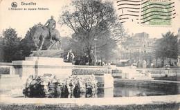 BRUXELLES - L'Abreuvoir Au Square Ambiorix - Marktpleinen, Pleinen