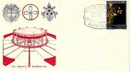 COLOMBIA - 1968 BOGOTA' Visita Papa PAOLO VI Celebrazione + Ann.spec. Vat. Sul Retro Su Busta Filagrano Viaggiata - 2346 - Papi