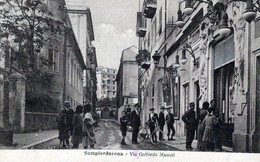 SAMPIERDARENA-GE-Via Goffredo Mameli-Vg Il 10-2-1917 Per Reggio Emilia-ORIGINALE D'Epoca Al100%-2 Scann- - Genova