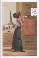 13719  ITALIA  CPA  SALUTI  DA GENOVA  LA LANTERNA  TBE - Genova (Genoa)