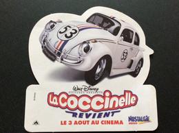 AUTOCOLLANT  LA COCCINELLE Revient Au Cinéma  WaLT DISNEY  Radio NOSTALGIE - Adesivi