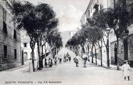 SESTRI PONENTE-GE-Via XX Settembre-ORIGINALE D'Epoca Al100%-2 Scann- - Genova