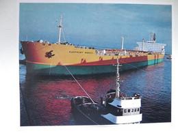 Polish  Tanker Ship Kasprowy Wierch / Tug /  Szczecin Port /  Photo Reproduction - Autres