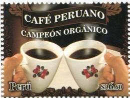 Lote P2011-6, Peru, 2011, Sello, Stamp, Cafe Peruano, Coffee - Perù